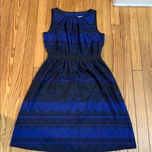 Loft Blue and Black Dress- Great Condition!